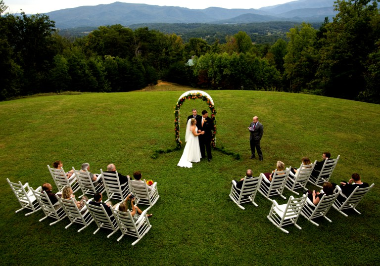 Wedding at Christopher Place